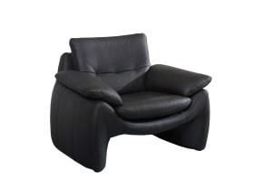 Ledersessel 525 in schwarz