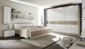 Schlafzimmer Luna in weiß/Eiche