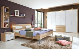 Schlafzimmer Solo Nova Bianco weiß/Eiche macao Nachbildung