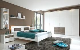 Schlafzimmer Solo Nova in Bianco weiß