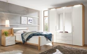 Schlafzimmer Multi-Comfort Lack bianco weiß matt/Struktureiche