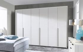 Schranksystem L1000 in Lack Bianco weiß matt, Breite 302 cm, mit 6 Drehtüren