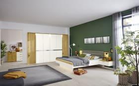 Schlafzimmer Ascea in bianco weiß/Balkeneiche Furnier