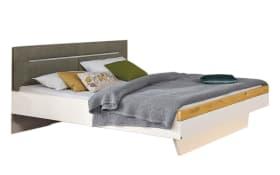 Doppelbett Ascea in bianco weiß/Balkeneiche Furnier