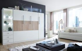 Appartmentwand Milano in weiß/Sonoma Eiche-Optik