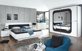 Schlafzimmer Sofia in weiß/basalt