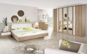 Schlafzimmer Laura in Dekor Druck Eiche San Remo hell Nachbildung