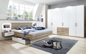 Schlafzimmer Helene in weiß/Sanremo-Eiche