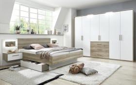 Schlafzimmer Helene in alpinweiß/Eiche Sanremo-Optik