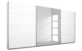 Schwebetürenschrank Kulmbach-A in weiß