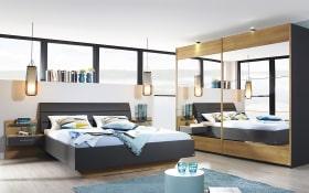 Schlafzimmer Nicole in graphit/Eiche Riviera-Optik