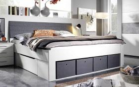 Bett Scala in alpinweiß/grau