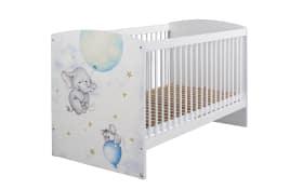 Babybett Jemma in weiß/Printdekor