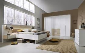 Schlafzimmer Ilka in alpinweiß/Jackson Hickery-Nachbildung, Liegefläche ca. 200 x 200 cm