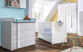 Babyzimmer Scandic in Nordic-Pinie-Nachbildung
