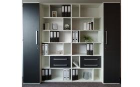 Büro-Einrichtung Techno in weiß/anthrazit matt