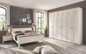 Schlafzimmer Castellino in Lack weiß/Wildeiche Funier