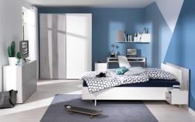 Jugendzimmer Concrete in weiß