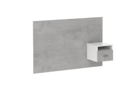Nachtkonsolenpaneel Concrete in Beton-Optik/alpinweiß