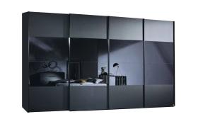 Panoramaschwebetürenschrank 20UP in schwarz