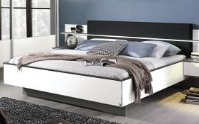 Komfortbett Elissa in weiß/graphit