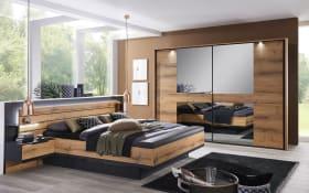 Schlafzimmer Ventura-Plus in schwarz/Atlantik Oak-Optik