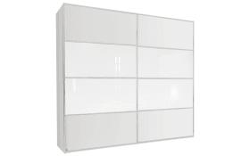 Schwebetürenschrank Juwel in weiß matt/Glas kristallweiß, B/H ca. 240 x 223 cm