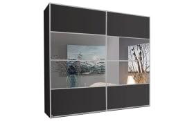 Schwebetürenschrank Juwel in graphit matt/Spiegel, B/H ca. 280 x 235 cm
