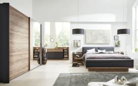 Schlafzimmer 1007 in schwarz/Eiche Sanremo-Optik