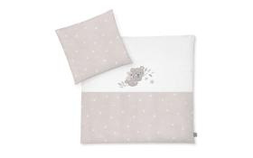 Bettwäsche mit Applikation in beige mit Muster Koala/Star beige, 80 x 80 cm