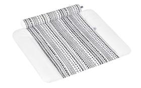 Wickelauflagenbezug Loop Jacob in weiß mit weißen und schwarzen Streifen