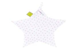 Schnuffeltuch Jersey in weiß mit Muster Herz pink