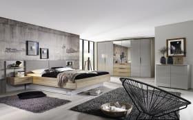 Schlafzimmer 4037 in seidengrau/Sanremo Eiche hell Optik, mit Bettschubkasten