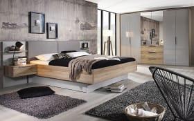 Schlafzimmer 4037 in seidengrau/Sanremo Eiche hell Nachbildung, mit Bettschubkasten
