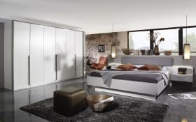Schlafzimmer Hoody in alpinweiß/seidengrau, ohne Bettschubkasten