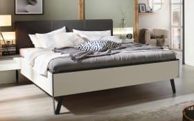 Futonbett 4014 in alpinweiß für Schlafzimmer mit Schwebetürenschrank