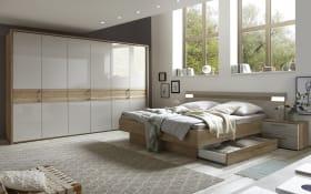 Schlafzimmer Nazza in Eiche Selia Optik/kristallgrau