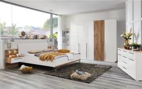 Schlafzimmer Silur in weiß/Atlantic Oak hell Optik, B/H ca. 260 x 223