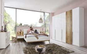 Schlafzimmer Silur in weiß/Atlantic Oak hell Optik, B/H ca. 310 x 223