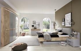 Schlafzimmer Casante in seidengrau/Samteiche-Optik