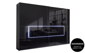Schwebetürenschrank 4015 in schwarz, B/H ca. 319 x 223 cm