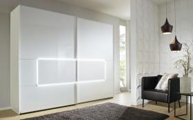 Schwebetürenschrank Tesero in weiß, B/H ca. 239 x 223 x 68 cm