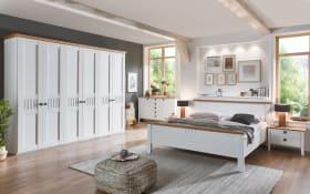 Schlafzimmer 4022 in weiß, Sprossen mittig, Schrankbreite 250 cm, Liegefläche 160 x 200 cm
