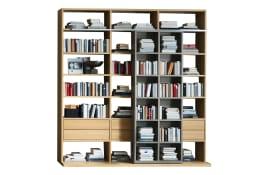 Bücherwand Sentis in Eiche / sand furniert