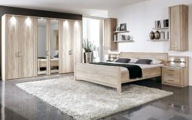 Schlafzimmer Valencia in Eiche-Nachbildung