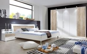 Schlafzimmer Sunny in alpinweiß/Santana-Eiche-Optik