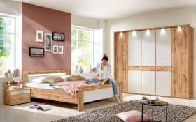 Schlafzimmer Donna 2 in champagner/Balkeneiche-Optik