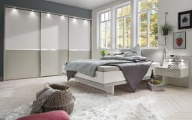 Schlafzimmer Alaska in alpinweiß/ kieselgrau Dekor