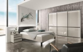 Schlafzimmer Montreal in kieselgrau-Optik/kieselgrau-Glas
