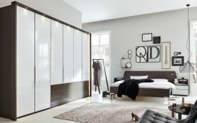 Schlafzimmer 1006 in weiß/havanna braun